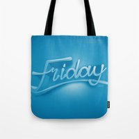 friday Tote Bags featuring Friday by CKGD