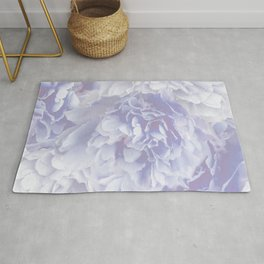 Flower Bouquet In Pastel Blue Color - #society6 #buyart Rug