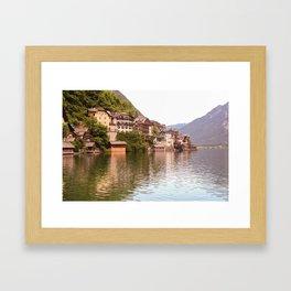 Sunny Hallstatt, Austria Framed Art Print