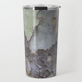 sycamore bark with a green tinge Travel Mug