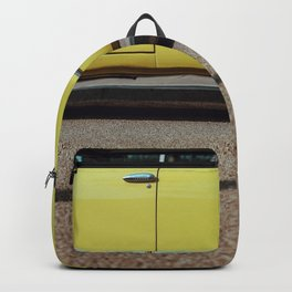 Retro yellow car Backpack