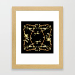 LUXE HORSE BLACK Framed Art Print