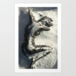 The Sleeping Lady Mountain, Mount Susitna, Alaska Art Print