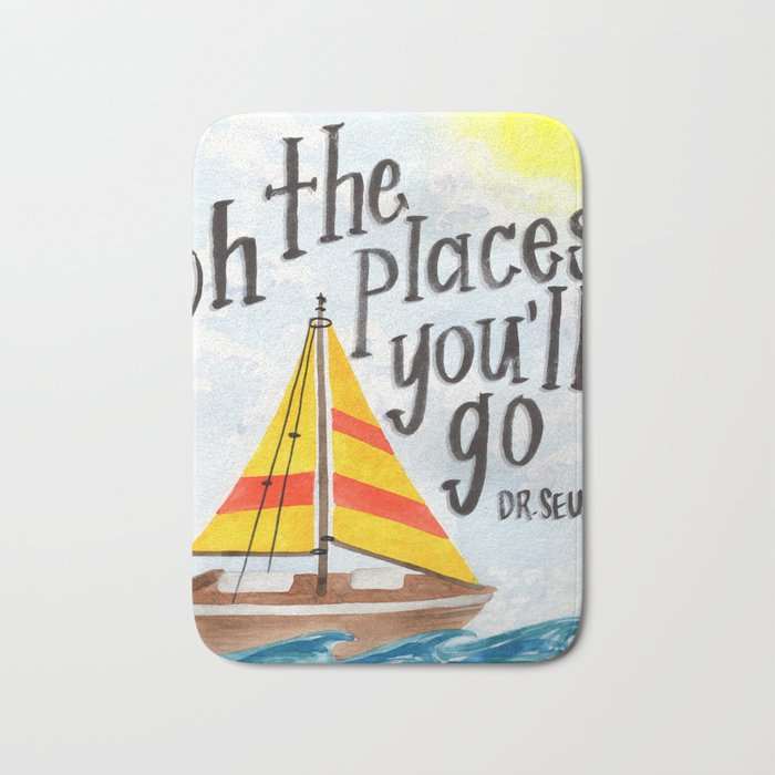 Oh the Places You'll Go - Dr. Seuss Bath Mat