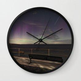 Shooting Star Aurora Wall Clock