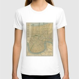 Vintage Map of New Orleans Louisiana (1893) T-shirt
