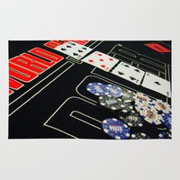 poker Area & Throw Rugs featuring poker by yahtz designs