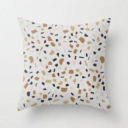 Beige Terrazzo Throw Pillow