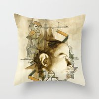 architect Throw Pillows featuring The Architect by Joshua Kulchar