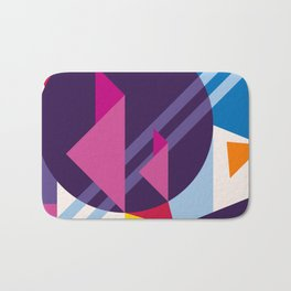 Abstract modern geometric background. Composition 7 Bath Mat