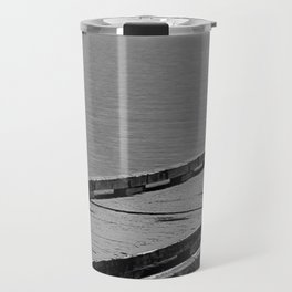Suttle Lake in Gray and Black Travel Mug
