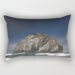Face Rock Rectangular Pillow