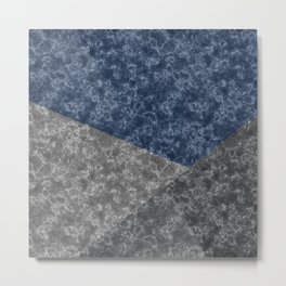 Blue gray abstract pattern marble . Metal Print