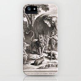 Le lion s'en allant en guerre iPhone Case