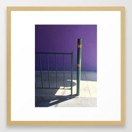 Purple and Shadow #1  Framed Art Print