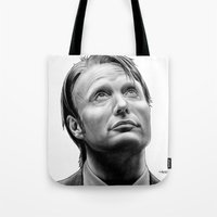 hannibal Tote Bags featuring Hannibal  by Mutemouia
