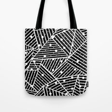 Abstraction Spots Close Up Black Tote Bag