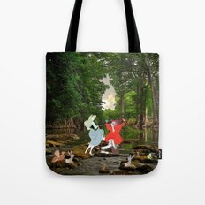 Sleeping Beauty in the Forest Tote Bag