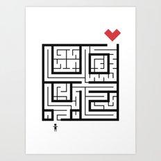 The Path of Love Art Print