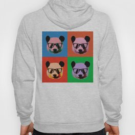 Panda with glasses in 4 Colors Hoody