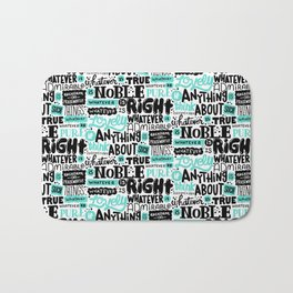 true noble right lovely admirable Bath Mat