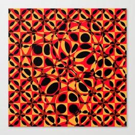 orange red circle pattern Canvas Print