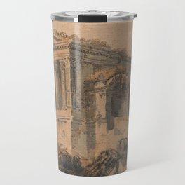 Tempio di Clitumno, Rome, after Piranesi Travel Mug