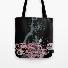 Rabbit In Your Headlights Tote Bag