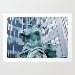 new york statues Art Print