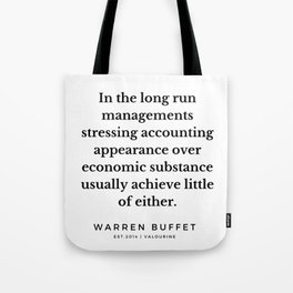 42 | Warren Buffett Quotes | 190823 Tote Bag