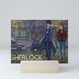 Sherlock fanart Mini Art Print