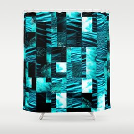 sea collage Shower Curtain