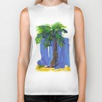 palm tree Biker Tanks featuring Palm Tree  by Thom Lupari