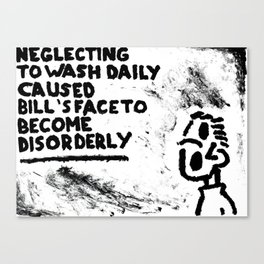 Disorderly Canvas Print