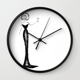 Evening Gown Wall Clock