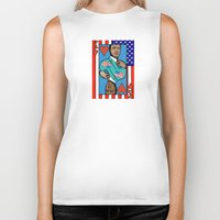 house of cards Biker Tanks featuring King Kevin of The House of Cards by Kramcox