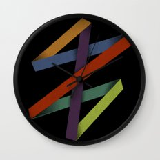 Folded Abstraction Wall Clock