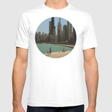 Chicago MEDIUM White Mens Fitted Tee