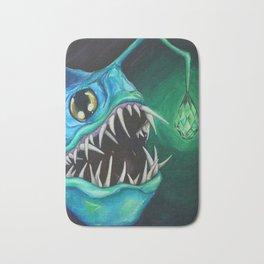 Emerald Angler Fish Bath Mat