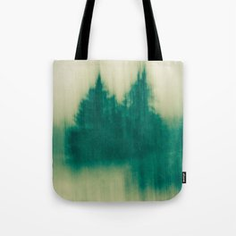 Winter Tree Abstract Tote Bag