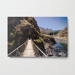 Hot Springs & Bridge Metal Print