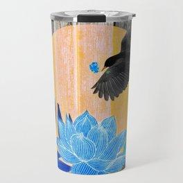 Satin Bowerbird's Blue Love Nest Travel Mug