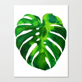 Monstera - alcohol ink Canvas Print