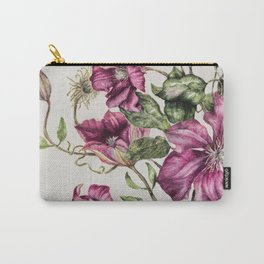 Purple Flowers 3 Carry-All Pouch