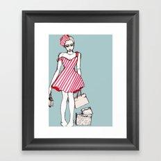 Frazzled Shopper Framed Art Print