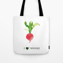 Radish - I love veggies Tote Bag