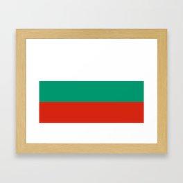 Flag of Bulgaria Framed Art Print