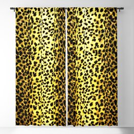 Leopard Print Animal Wallpaper Blackout Curtain