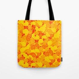 swirl pattern yellow orange Tote Bag