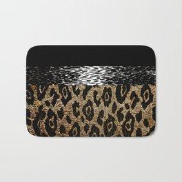 ANIMAL PRINT BLACK AND BROWN Bath Mat